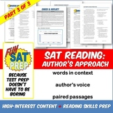 Fun SAT Prep Reading: Words in Context, Author's Voice, & Paired Passages