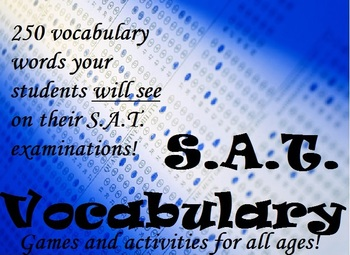Fun SAT/ACT Vocabulary Worksheets - Test Prep Activities and Printables