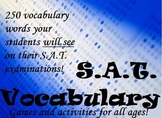 Fun SAT/ACT Vocabulary Worksheets - Test Prep Activities a