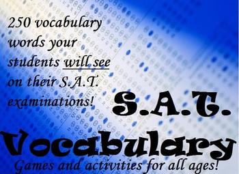 Fun SAT/ACT Vocabulary Worksheets - Test Prep Activities a
