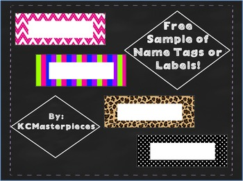 Fun Sampling of Name Tags or Labels