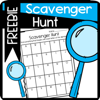 Fun Scavenger Hunt! Find items that begin with each letter of the alphabet!