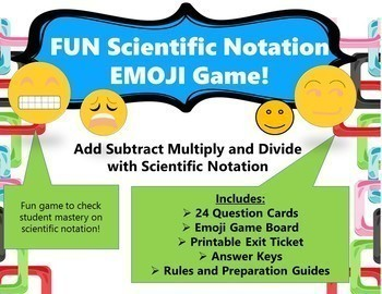 Fun Scientific Notation Emoji Game and Exit Tickets