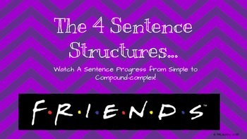 Fun Sentence Structure Activity with FRIENDS!
