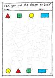Fun Shape Maze - Fine Motor Skills