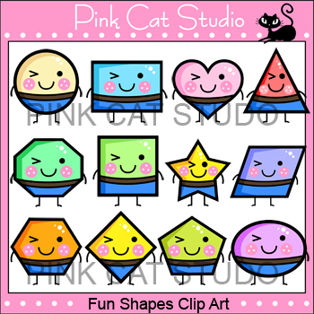 shapes clip art set personal or commercial use by pink cat studio rh teacherspayteachers com centre commercial clipart commercial clip art downloads free
