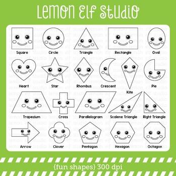 Fun Shapes-Digital Stamp (LES.DS44)