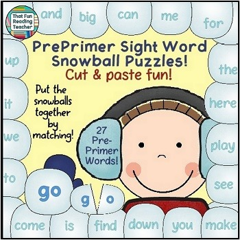Winter Sight Words!
