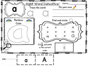 Sight Word Detective Bundle No Prep Practice Dolch Pre Primer+Primer Words