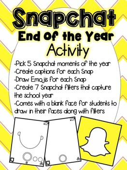 Fun Snapchat End of Year Activity (Snapchat Story and Filters)