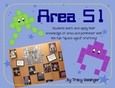 Fun Space-Aged Alien Area and Perimeter Craftivity