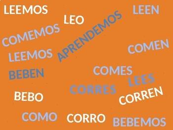 Fun Spanish AR ER IR Verb Conjugation Game - EASY PREP