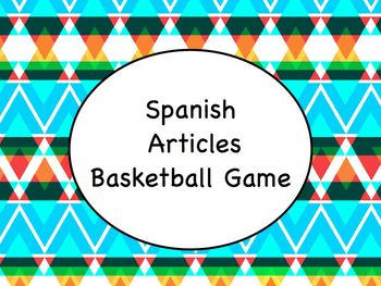 Spanish Articles Game with Keynote Slideshow and Instructions