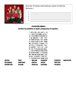 "Fun Spanish Christmas Navidad Movie Activity ""Good Luck Charlie: It's Christmas"""