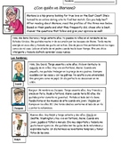 Fun Spanish Imperfect Tense Reading and Writing Activity