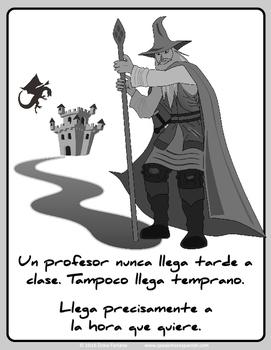 Fun Spanish Nunca Llega Tarde Poster - Teach the Verb Llegar - FREE * GRATIS