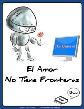 Fun Spanish Poster - El Amor No Tiene Fronteras *Gratis*  FREE
