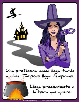 Fun Spanish Poster La Noche de Brujas* Póster en Español * FREE * GRATIS