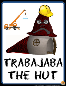 Free Spanish Poster Trabajaba The Hut. Póster en Español con el Imperfecto