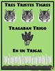 Free Spanish Poster Tres Tristes Tigres to practice pronunciation.  Trabalenguas