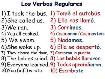 Fun Spanish Preterite Verb Tense Warm-Ups and Practices / El Preterito