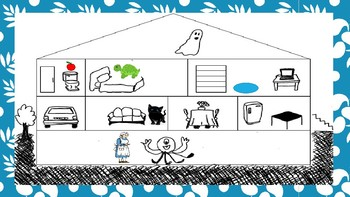 Fun Spanish Rooms in a House Activity