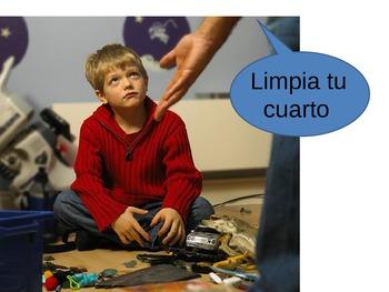 Fun Spanish Tú Commands Powerpoint (-AR -ER -IR) With Exam