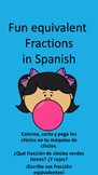 Fun Spanish fractions and equivalent fractions
