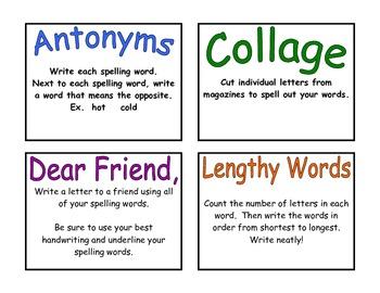 Fun Spelling Activities