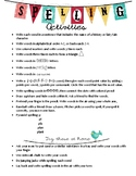 Fun Spelling Activities and Games