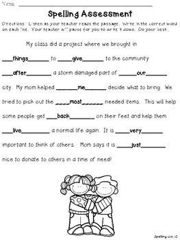 Fun Spelling List Word Work Using Fry Words 111-120!