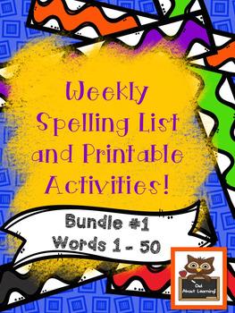 Fun Spelling List Word Work Using Fry Words Bundle!