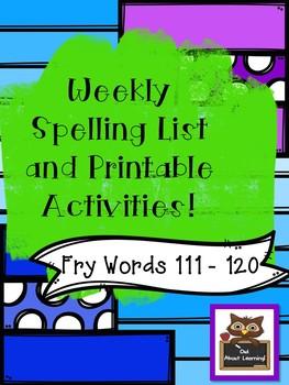 Fun Spelling List Word Work Using Fry Words Bundle 3! (Words 101 - 150)