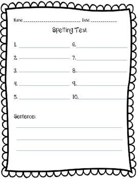 Fun Spelling Paper