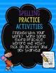Fun Spelling Practice Activities