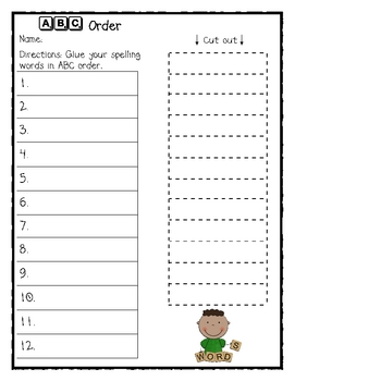 Fun* Spelling Practice Worksheets by Carrie's Creations | TpT