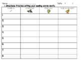 Fun Spelling Word Practice Activity