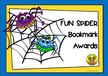 Fun Spider Bookmark Awards