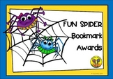 Fun Spider Bookmark Awards