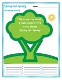Fun Spring Literacy Activity