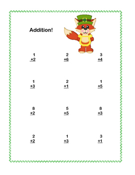 Fun St.Patrick's Math Addition+Subtraction within 20 Printable Worksheets