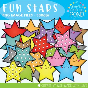 Fun Stars Clipart Set