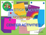 Fun Sticky Notes and Notepaper for Center Activities Vol.1