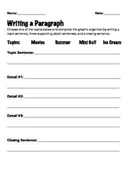 Fun & Structured Paragraph Writing
