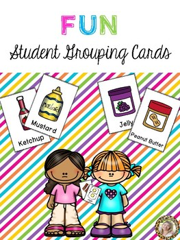 Fun Student Grouping Cards