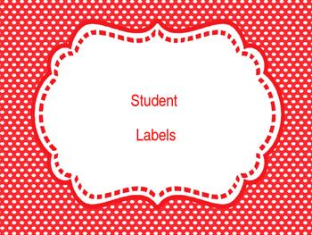 Fun Students Labels/Classroom Labels