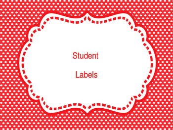 Fun Students Labels/Classroom Labels