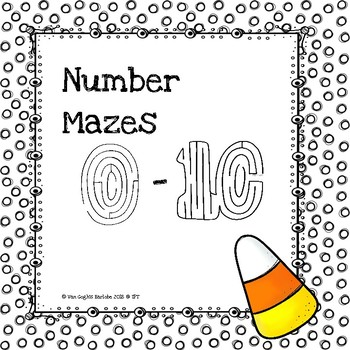 Fun Stuff: Candy Corn Number Mazes 0-10