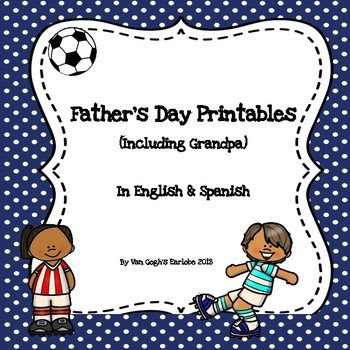 Freebie: Father's Day Printables in English & Spanish