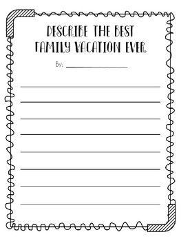 Fun Summer Activity Pages - End of Year